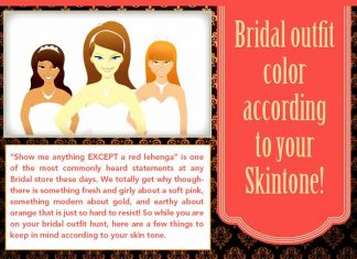 Bridal Outfit Colours According to Your Skin tone [Infographic]