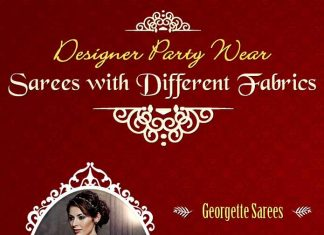 Designer Party Wear Sarees with Different Fabrics [Infographic]