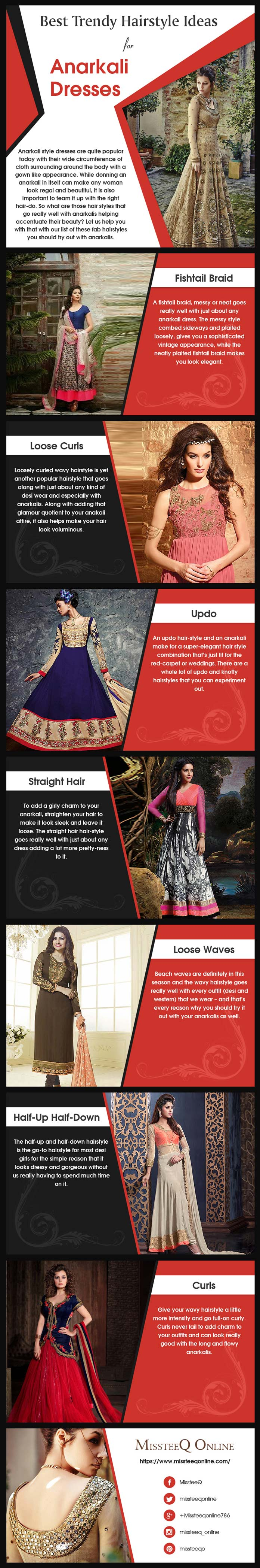 Best Trendy Hairstyle Ideas for Anarkali Dresses [Infographic]