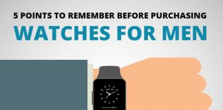 5 Points to Remember before Purchasing Watches for Men [Infographic]