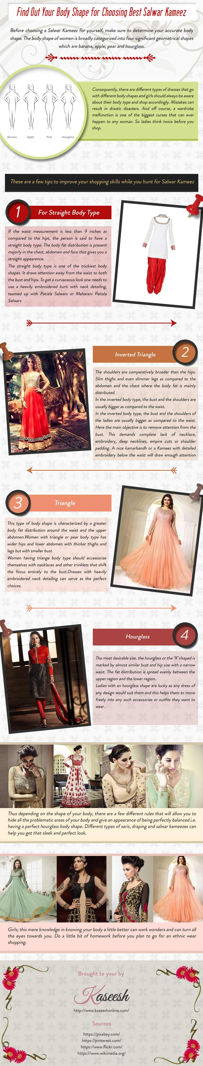 Find Out Your Body Shape for Choosing Best Salwar Kameez