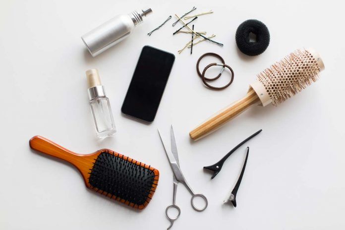 smartphone scissors brushes and other hair tools