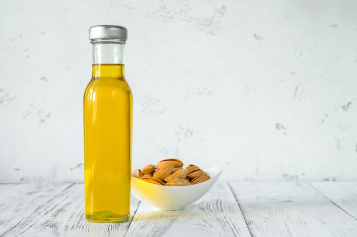 Bottle of almond oil