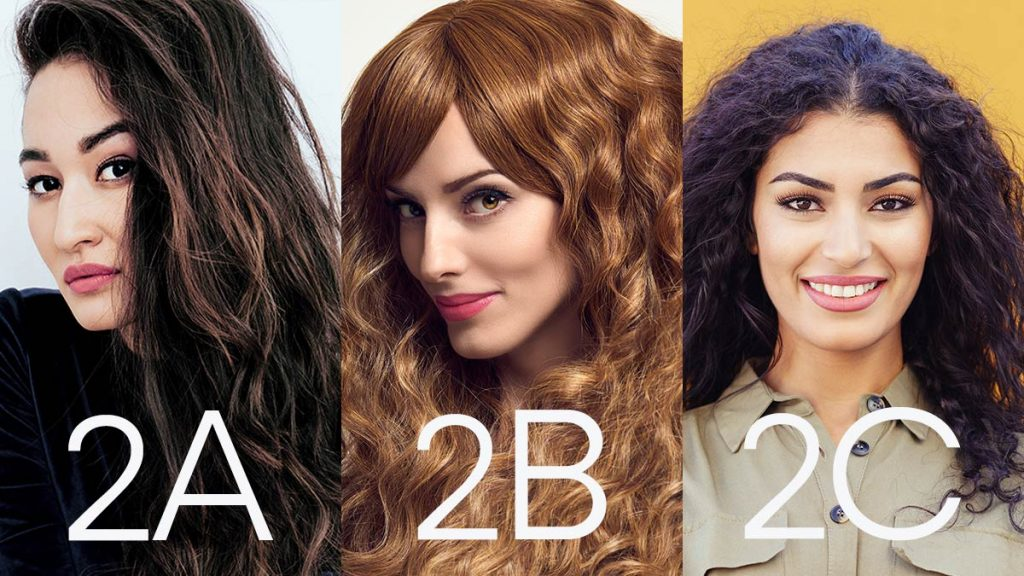 Types of hair - 2a, 2b, 2c