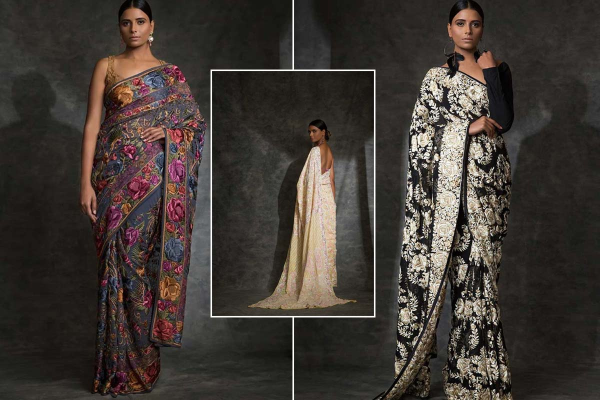 model wearing Indian Designer Saree
